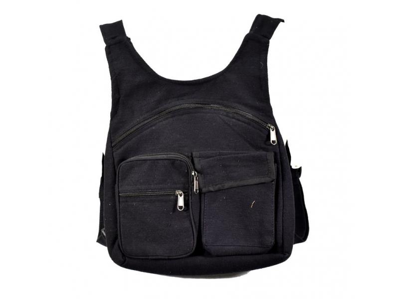 Batoh, černý, bavlna, 31x31cm