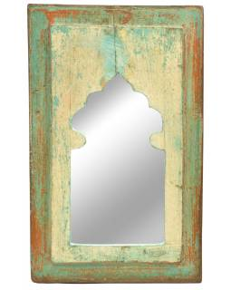 Zrcadlo v rámu, starý teak, 23x2x36cm