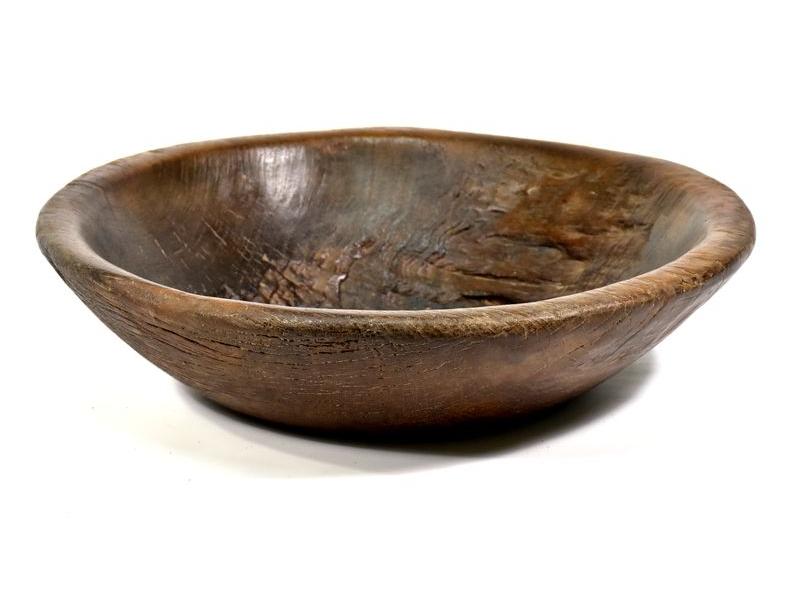 Dřevěná mísa z teakového dřeva, antik, 47x47x23cm