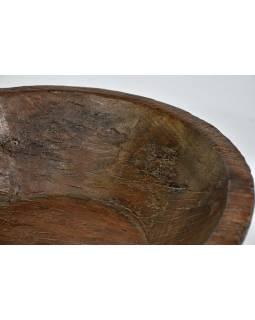 Dřevěná mísa z teakového dřeva, antik, 49x24x14cm