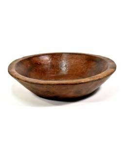 Dřevěná mísa z teakového dřeva, antik, 49x49x12cm
