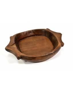 Dřevěná mísa z teakového dřeva, antik, 55x41x9cm