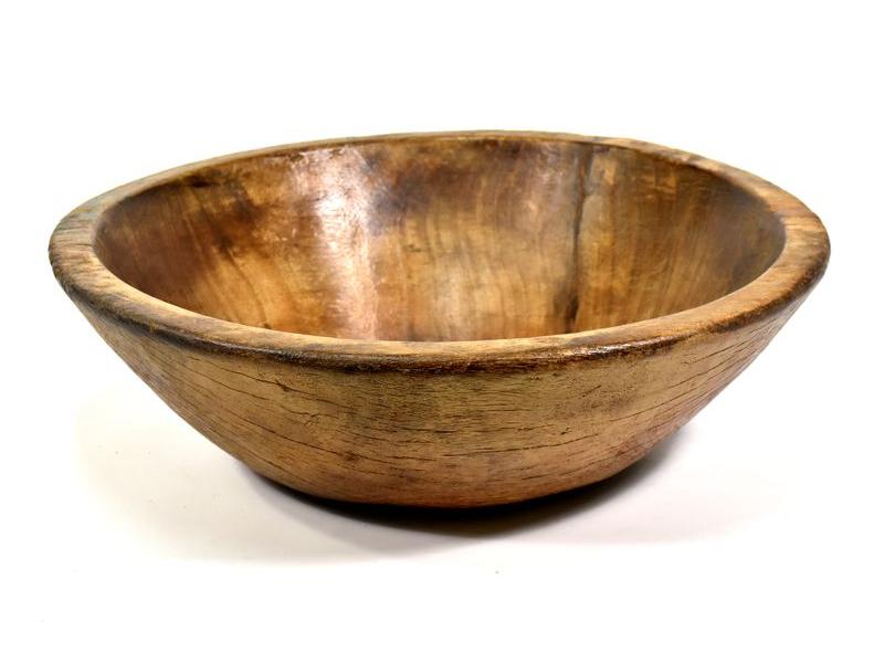 Dřevěná mísa z teakového dřeva, antik, 49x49x16cm