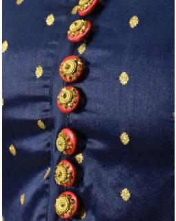 """Luxusní indické šaty """"Anarkali"""", tmavě modré, šál a leginy"""