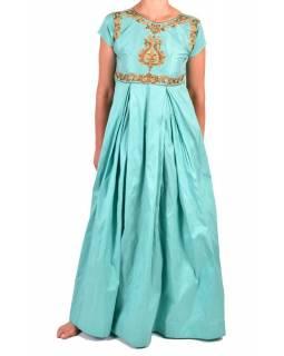 """Luxusní indické šaty """"Anarkali"""", mentolově zelené, šál a leginy"""