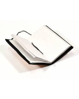 Notes ve vazbě z recyklovaného papíru, ruční papír, 10x18cm