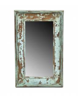 Zrcadlo v rámu, starý teak, 29x3x45cm