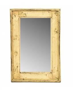 Zrcadlo v rámu, starý teak, 31x3x46cm