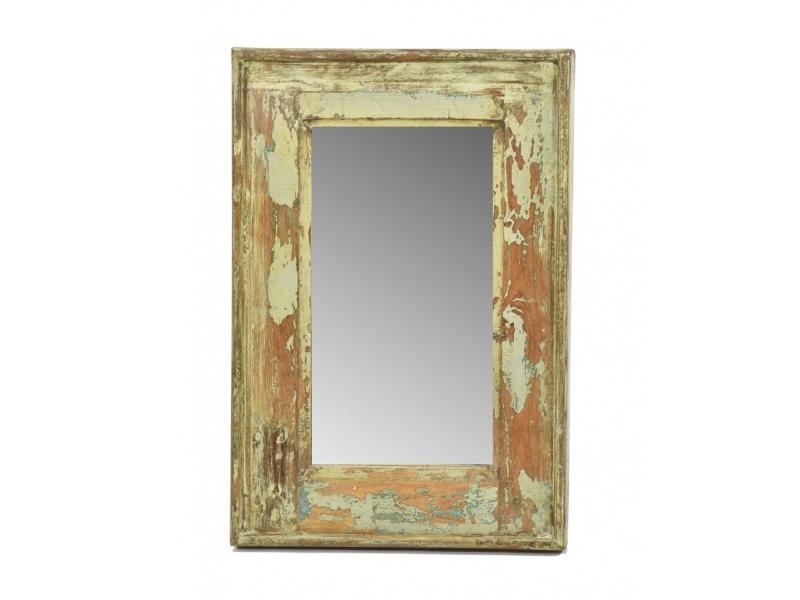 Zrcadlo v rámu, starý teak, 33x3x49cm