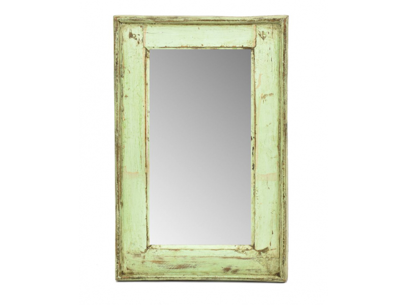 Zrcadlo v rámu, starý teak, antik patina, 33x51x3cm
