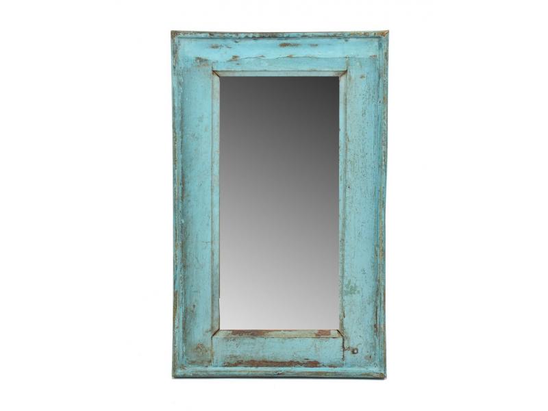 Zrcadlo v rámu, starý teak, antik patina, 34x56x3,5cm