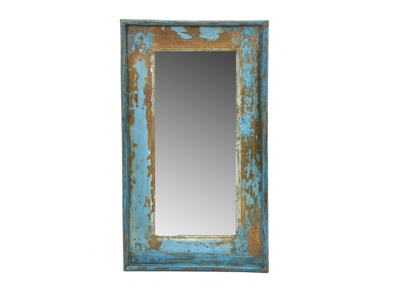 Zrcadlo v rámu, starý teak, antik patina, 35x60x3cm