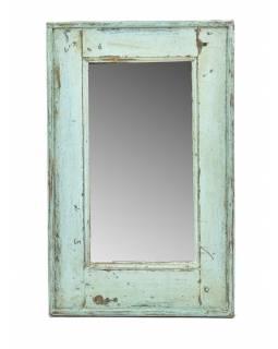 Zrcadlo v rámu, starý teak, antik patina, 39x63x4cm