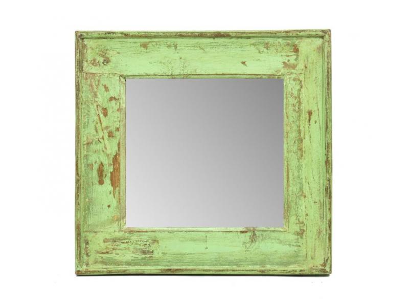 Zrcadlo v rámu, starý teak, 49x4x47cm