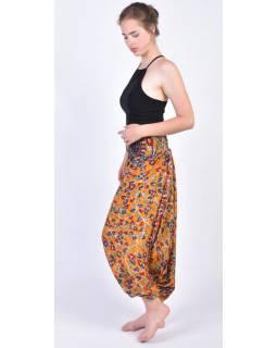 Turecké kalhoty z recyklovaných sárí, bobbin elastický pas