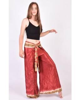 Zavinovací oboustranné široké kalhoty z recyklovaných sárí, mix barev