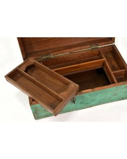 Truhla z teakového dřeva, šperkovnice, 45x25x18cm