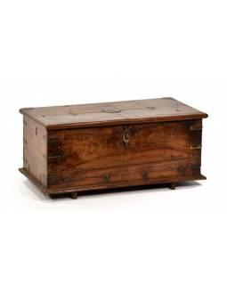 Truhla z teakového dřeva, šperkovnice, 51x25x23cm