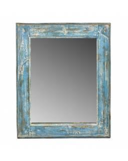 Zrcadlo v rámu, starý teak, antik patina, 56x68x4cm