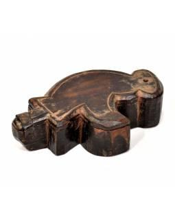 Krabička na Tiku, antik, teakové dřevo, ručně vyřezaná, 10x18x5cm