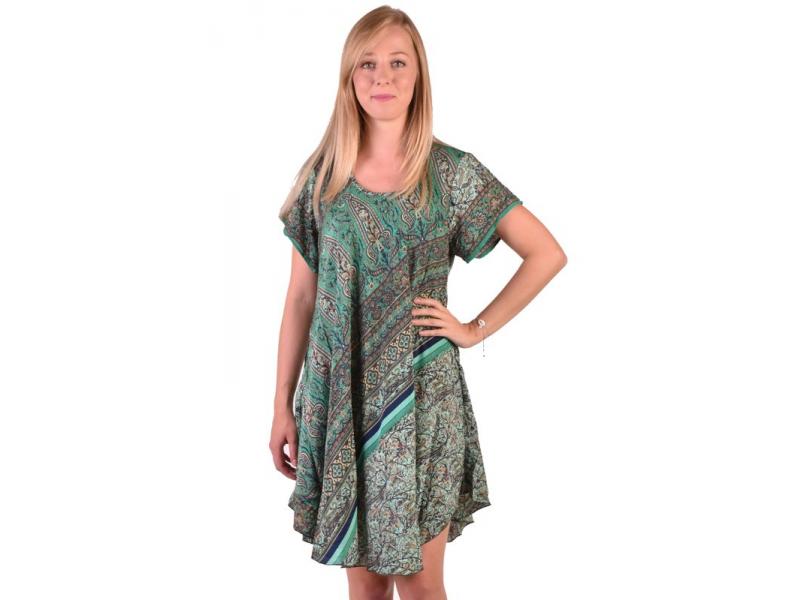 Krátké šaty s rukávkem, potisk