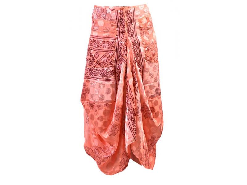 Balonová sukně s potiskem, růžová
