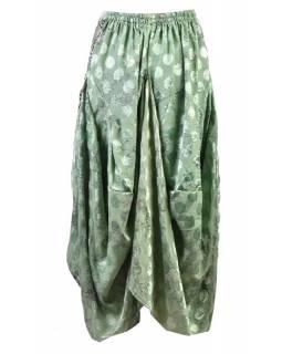Balonová sukně s potiskem, zelená