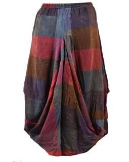 Dlouhá balonová sukně, patchwork design, kapsy
