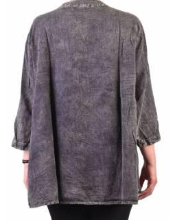 Letní halena, stonewashed design, šedivá