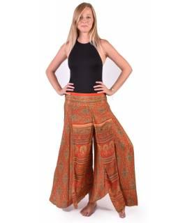 Pohodlné volné kalhoty, potisk