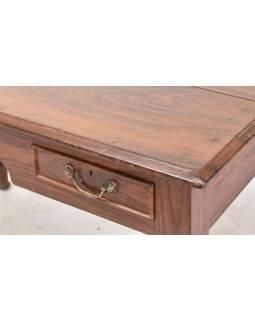 Psací stůl z teakového dřeva, 121x67x76cm