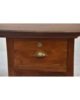 Psací stůl z teakového dřeva, 43x57x78cm