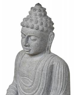 Kamenná socha, Buddha Amitábha, podstavec, žula, 85cm