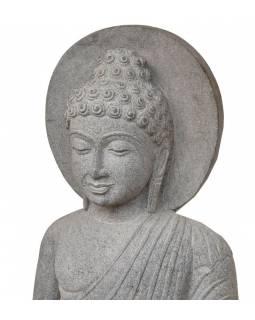 Kamenná socha, Buddha Amitábha, podstavec, žula, 100cm