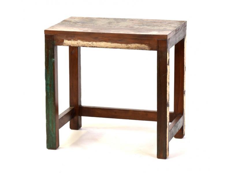 """Stolička z antik teakového dřeva v """"Goa"""" stylu, 45x30x44cm"""