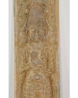 Vyřezávaný panel Buddha, antik, 36x163x3cm