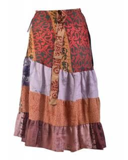 Dlouhá zavinovací sukně, multibarevná