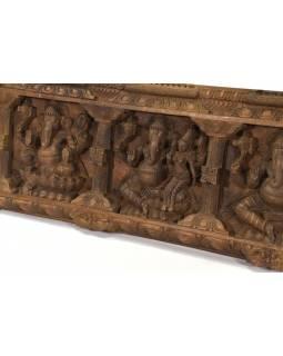 Vyřezávaný panel Ganesh, 153x36x7cm