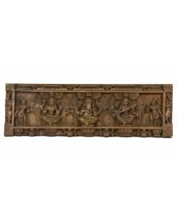 Vyřezávaný panel Ganesh, 91x29x4cm