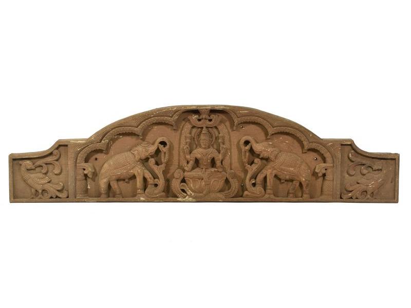 Vyřezávaný antik panel Laxmi, 147x37x7cm