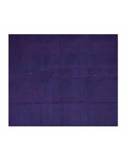 Patchworková, ručně prošívaná deka, modrá, výplň bavlna, 230x266cm