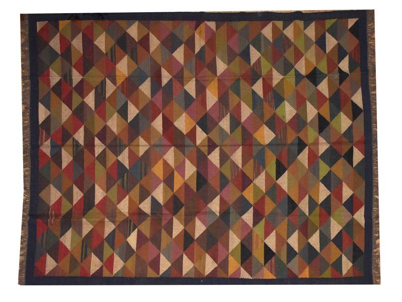 Koberec, ručně tkaný, vlna, juta, 246x310cm