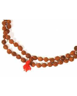 Mala Rudraksha, 108 korálků, průměr 9mm, délka cca 60cm