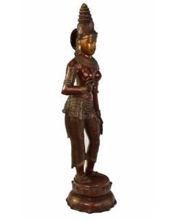 Mosazná socha bohyně Parvati, 19x26x32cm