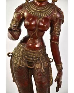 Mosazná socha bohyně Parvati, 19x26x115cm