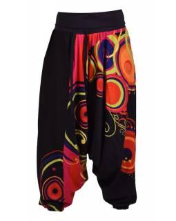 """Černé turecké kalhoty s vysokým pasem, """"Disco design"""","""
