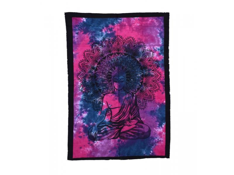 Přehoz na postel, Buddha, fialovo růžový, 200x140cm