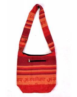 """Taška přes rameno """"Baba bag - Kerala""""s potiskem mantry, 36x37cm"""