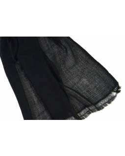 Černá pašmína, 100% kašmír, cca 75x220cm