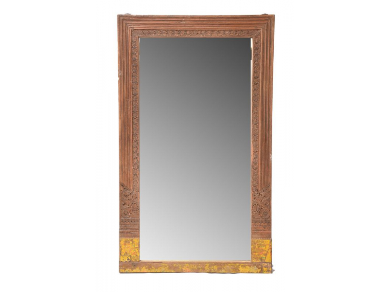 Zrcadlo v rámu ze starého portálu, 130x8x217cm